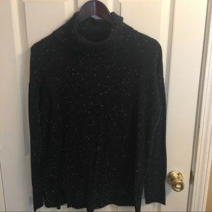 LOFT Speckled Navy Turtleneck Sweater